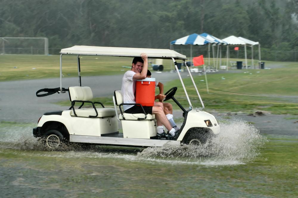 雨の日にゴルフはする?