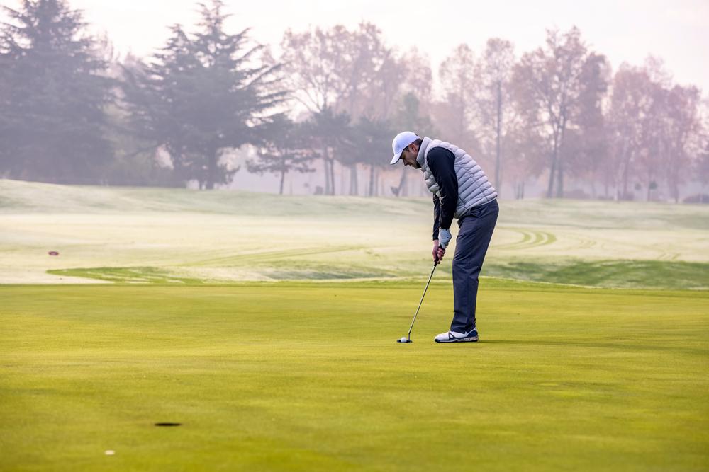 冬ゴルフの防寒対策:体全体
